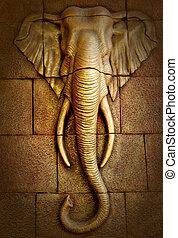 Stucco of elephant
