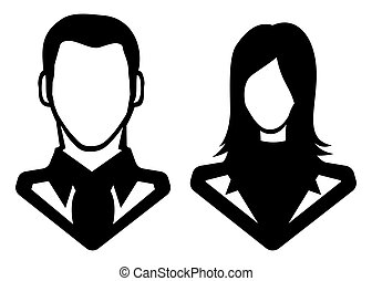 Man and woman icon - avatar