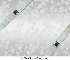 Wedding invitation White ribbons