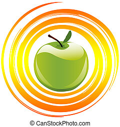 Concept Vitamins - Apple as symbol and sign for healthy food...