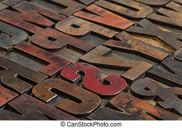 vintage printing blocks - typography abstract vintage...