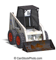 skidloader - rendering of a skidloader with Clipping Path...