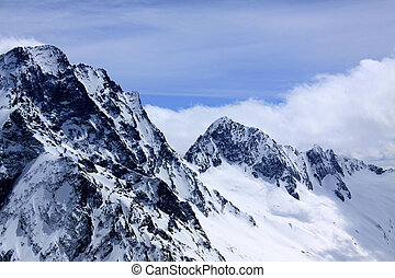 Caucasus, mountains and blue sky - Caucasus, snowy mountains...