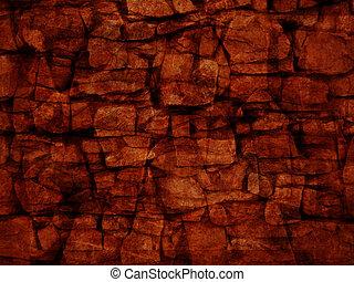 Unshaped stone wall pattern,wall made of rocks...