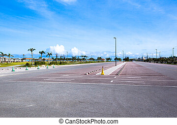 Parking in tropical island