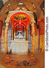 The marble chapel altar with icons - Jerusalem - September...