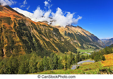 The beautiful sunny day - Early autumn in the Austrian Alps....