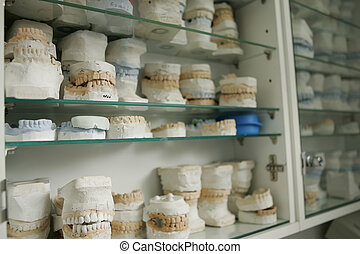 dental gypsum models, dentist's office