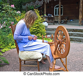 Self Employed Woman - This artisan woman is hand crafting...