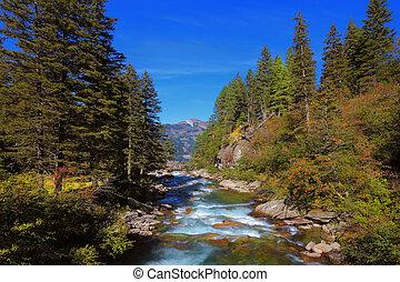 água, cascatas, gelado,  krimml, cachoeiras