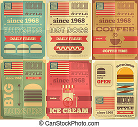 fast food posters collection - Fast Food Posters Collection...