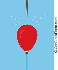 Balloon Pin About To Pop