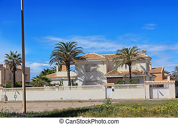 houses in a small village in the region of Murcia, Spain
