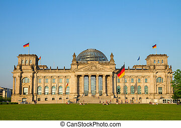 Reichstag building (german government) in Berlin, Germany