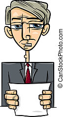man giving speech cartoon illustration - Cartoon...