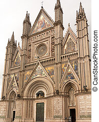 Orvieto Cathedral - The facia and portico of the cathefdral...