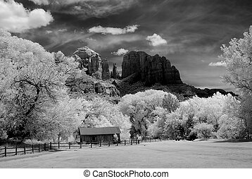 Sedona Arizona - Black and white image of Sedona Arizona