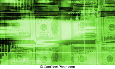 Money and graphs geometric looping animated background in...