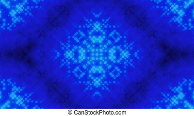 Abstract dot pattern blue loop