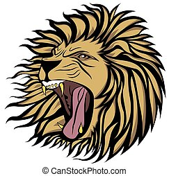 screaming lion vector - Ready to use, layers optimized for...