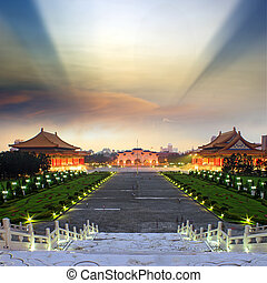 National Taiwan Democracy Square - view to Beautiful sunset...