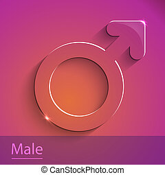 Male sign glass icon vector illustration