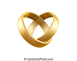 golden wedding ring isolated on dark background