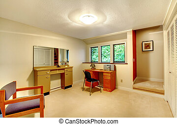 Simple office room interior - Office room furnished with...