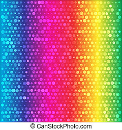 Spectrum Rainbow circles colorful vector background -...