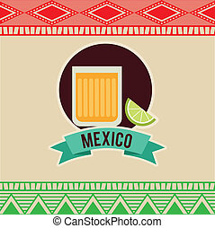 Mexico design over beige background, vector illustration
