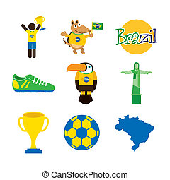 Brazil design over white background, vector illustration