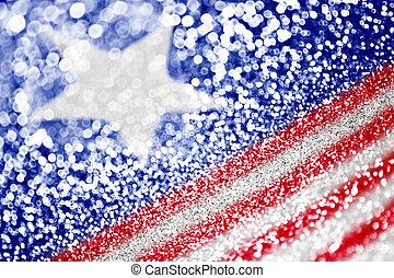 Patriotic American Flag Background - Abstract patriotic...