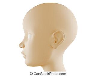 Neutral head profile - Neutral child head profile computer...