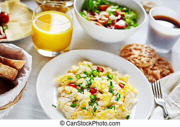 Healthy nutricious breakfast food - Fresh breakfast food....
