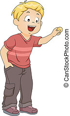 Boy Inserting Coin - Illustration of a Little Boy Inserting...