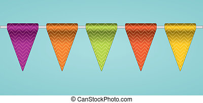 Bunting flags. Vector illustration.