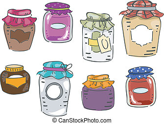 Canning Elements - Illustration Featuring Different Elements...