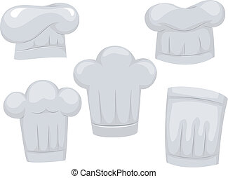 Chef Hats - Illustration Featuring Different Chef Hats