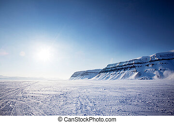 Svalbard Landscape - A panorama landscape on Spitsbergen...