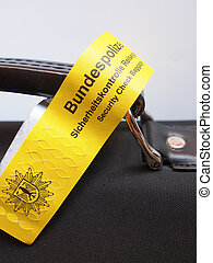 Security Check Baggage - BERLIN, GERMANY - MAY 27, 2014:...