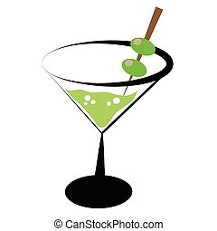 Martini cocktail alcohol drink