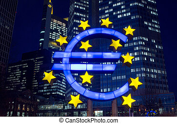 Euro Sign - February 12 : Euro Sign. European Central Bank...