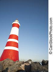 Beacon - Red and white beacon