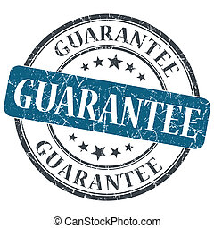 guarantee blue round grungy stamp isolated on white...