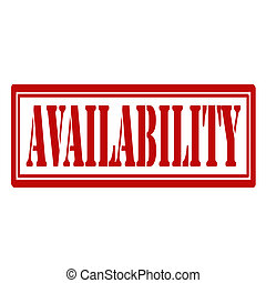 Availability-stamp - Rubber stamp with text...