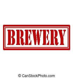 Brewery-stamp - Rubber stamp with text Brewery,vector...