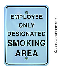 smoking area - designated smoking area sign