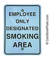 smoking area - designated smoking area sign