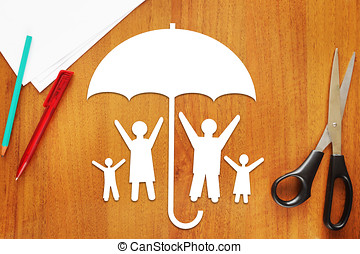 Concept of safe happy family
