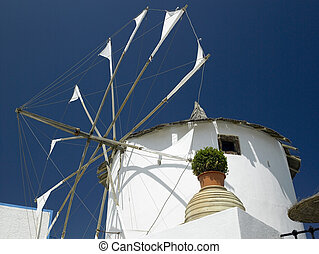 Windmill - Santorini - Greek Islands - A windmill in Thera...